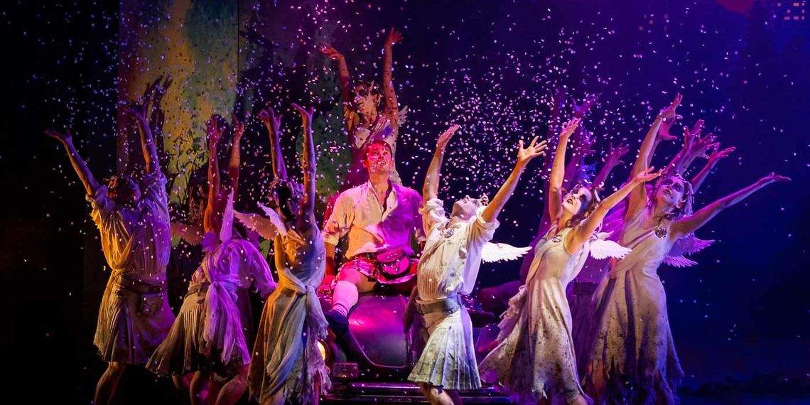 Christopher Harrison as James with the Company in Scottish Ballet's  production of Matthew Bourne's Highland Fling
